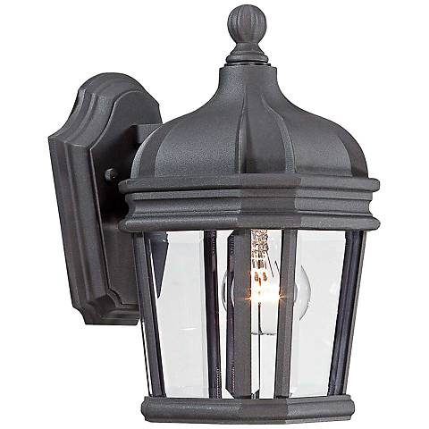 "Harrison 11 1/2"" High Black Outdoor Wall Light"