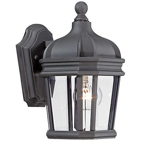 "Harrison 11 1/2"" High Black Outdoor Wall Light"