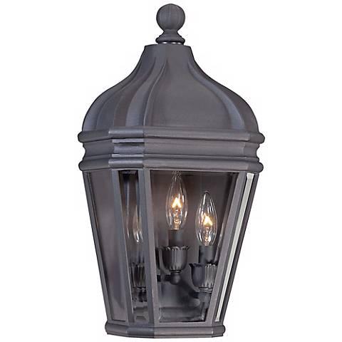 """Harrison Vintage Black 18 3/4"""" High Outdoor Pocket Light"""