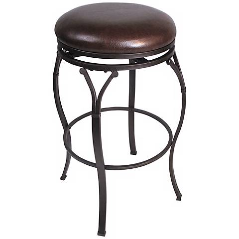 "Hillsdale Lakeview Brown Backless 24 1/2"" High Counter Stool"