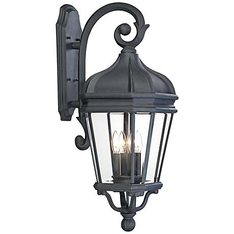 "Harrison 33 1/2"" High Black Outdoor Wall Light"