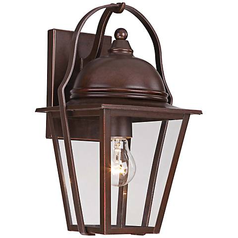 "Rivendale Court 14 3/4"" High Bronze Outdoor Wall Light"
