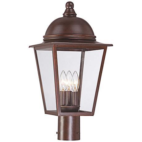 """Rivendale Court 20 1/4"""" High Bronze Outdoor Post Light"""