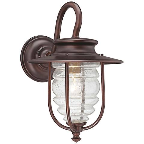 "Spyglass Cove 14"" High Bronze Outdoor Wall Light"