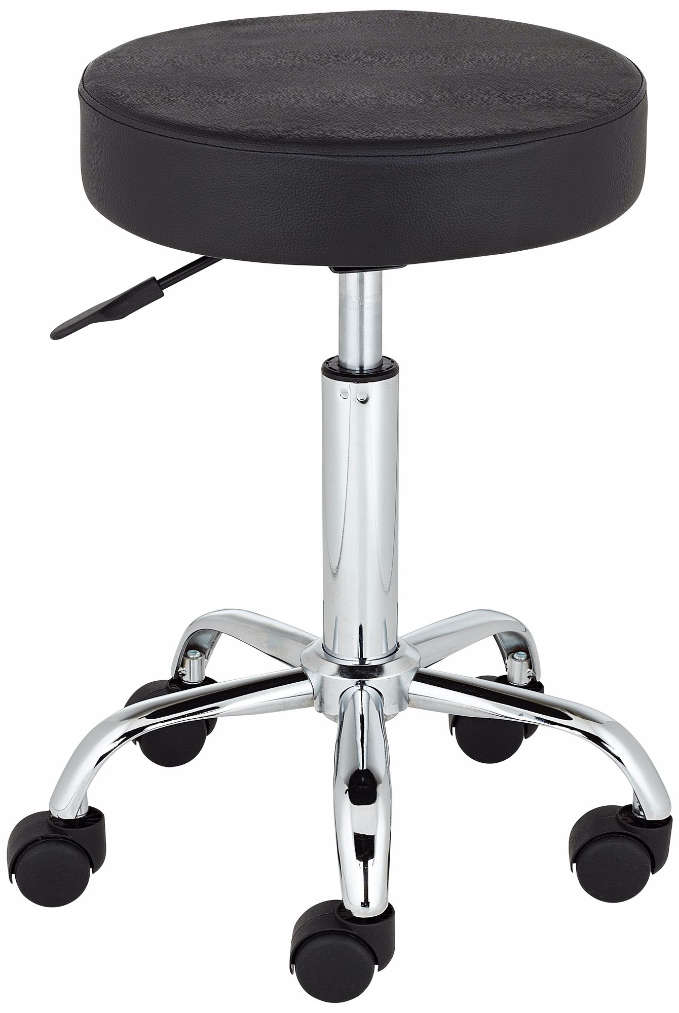 Kelly Rolling Chrome and Black Adjustable Height Stool  sc 1 st  L&s Plus & Kelly Rolling Chrome and Black Adjustable Height Stool - #U5851 ... islam-shia.org