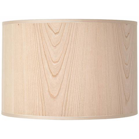 Lights Up! Cherry Wood Veneer Lamp Shade 14x14x10 (Spider)