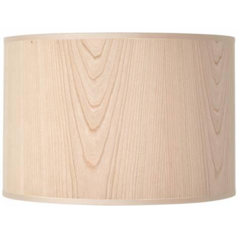 lights up cherry wood veneer lamp shade 14x14x10 spider u6006 lamps plus. Black Bedroom Furniture Sets. Home Design Ideas