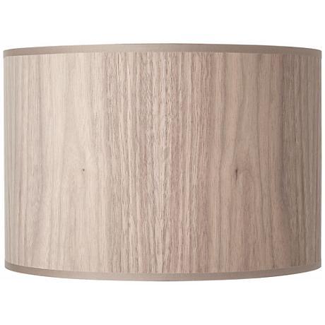 Lights Up! Walnut Wood Veneer Lamp Shade 14x14x10 (Spider)