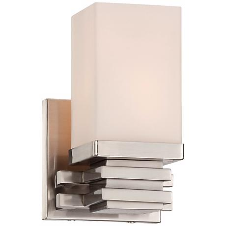 "Bennett Collection Satin Nickel 4 1/2"" Wide Wall Sconce"