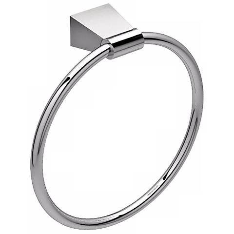 Gatco Bleu Chrome Towel Ring