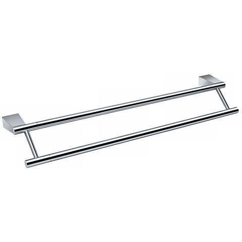 "Gatco Bleu Chrome 24"" Wide Double Towel Bar"