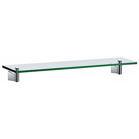 """Gatco Bleu Chrome 20"""" Wide Glass Shelf"""