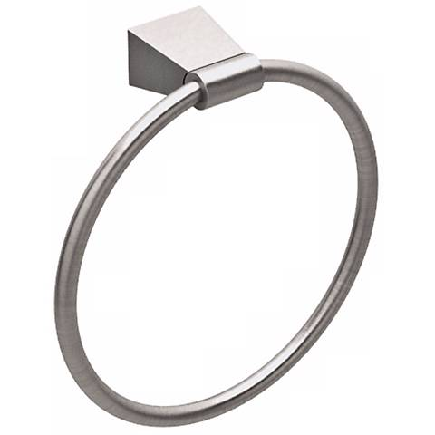 Gatco Bleu Satin Nickel Towel Ring