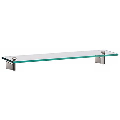 "Gatco Bleu Satin Nickel 20"" Wide Glass Shelf"