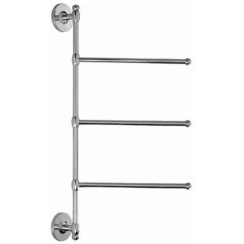 "Gatco Chrome 24"" High 3-Arm Wall Towel Bar"