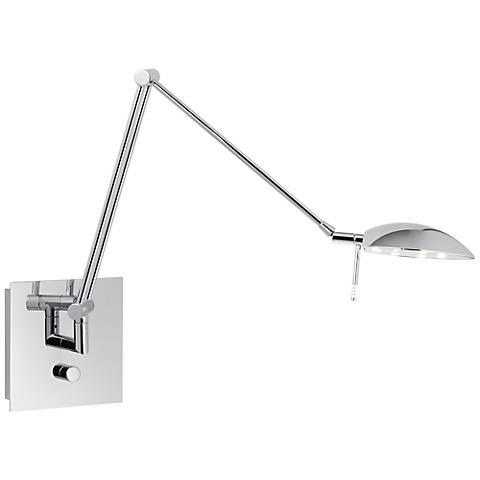 """Holtkoetter Bernie Turbo 29"""" Chrome LED Swing Arm Wall Lamp"""