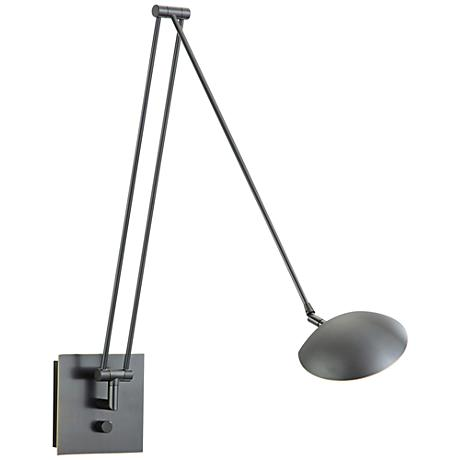 """Holtkoetter Bernie 49"""" Turbo Bronze LED Swing Arm Wall Lamp"""