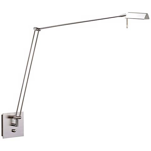 Holtkoetter Bernie Series Nickel Extended Reach Wall Lamp