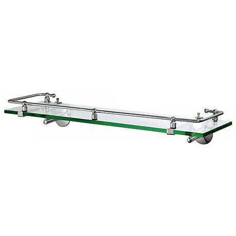 "Gatco Premier Chrome 20 1/2"" Wide Railing Wall Shelf"