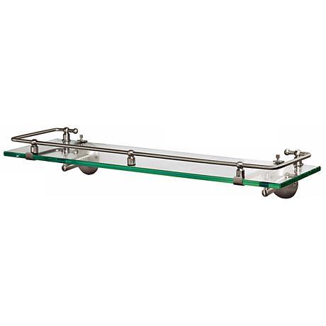 "Gatco Premier Satin Nickel  20 1/2"" Wide Railing Wall Shelf"