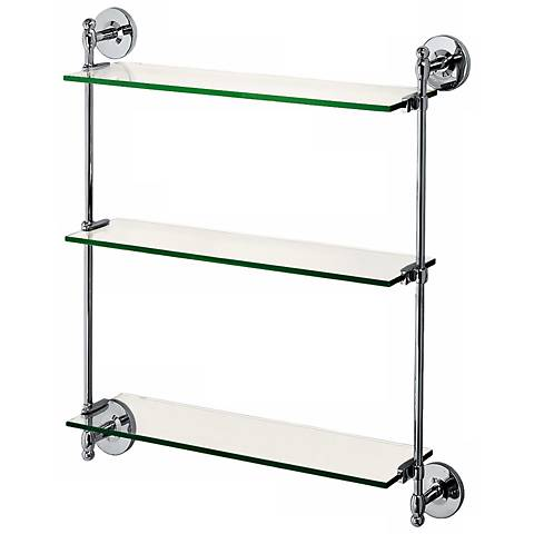 "Gatco Premier Chrome 25 1/4"" High Adjustable Wall Shelf"