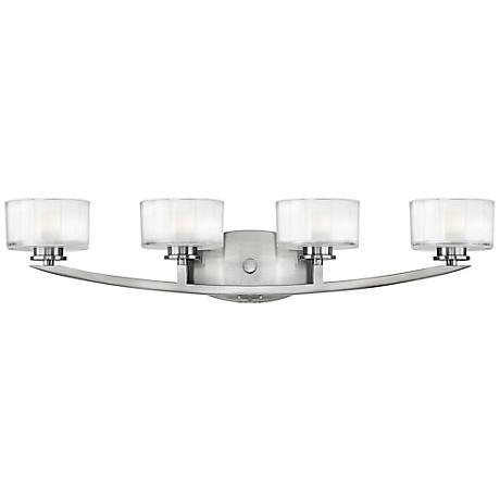 """Hinkley Meridian 29"""" Wide Brushed Nickel Bathroom Light"""