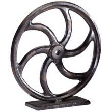 """Bronze Gear 10 3/4"""" High Sculpture #2"""