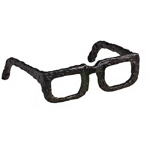 "Sculptured Iron 7"" Wide Spectacles"