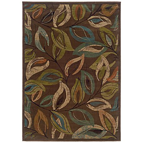 Emerson Collection Leaves Area Rug