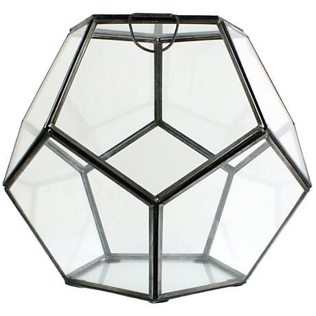 Pierre Large Clear Glass Faceted Terrarium