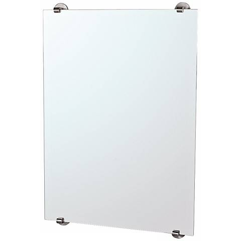 "Gatco Zone Minimalist Satin Nickel 32"" High Wall Mirror"