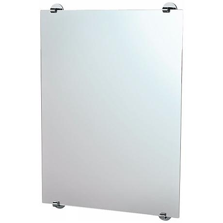 "Gatco Zone Minimalist Chrome 32"" High Wall Mirror"