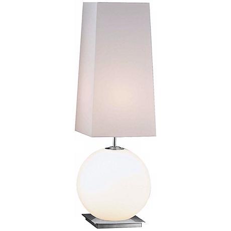 White Square Shade Lg Galileo Holtkoetter Table Lamp