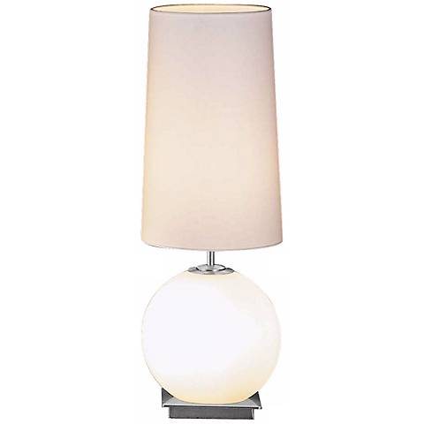 White Round Shade Sm Galileo Holtkoetter Table Lamp