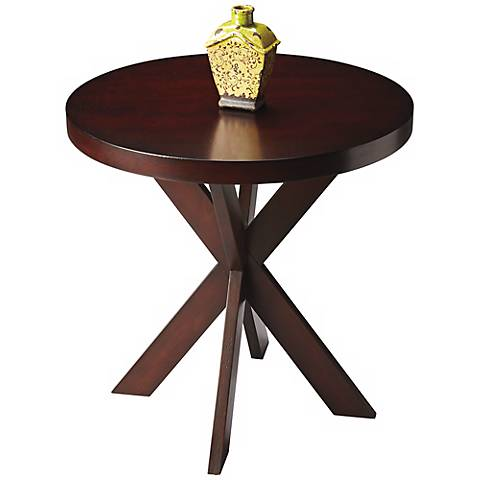 Butler Loft Chocolate Round Accent Table