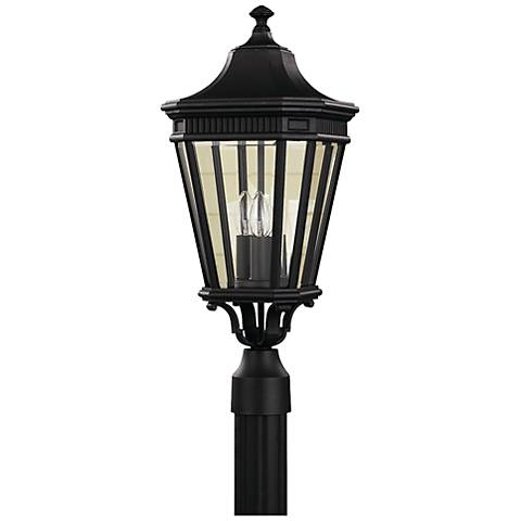 "Feiss Cotswold Lane 22 1/2""H Black Outdoor Post Light"