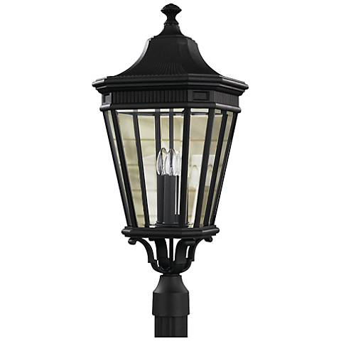 "Feiss Cotswold Lane 27 1/2""H Black Outdoor Post Light"