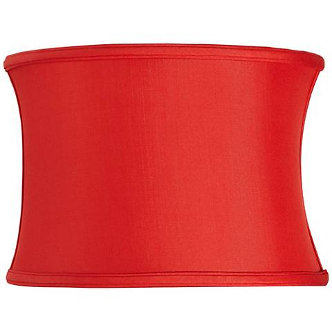 Red Silk Oval Lamp Shade 14/9x14/9x10 (Spider)