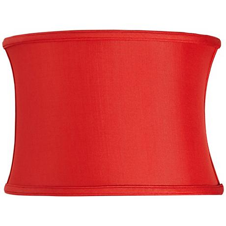 Red Silk Oval Shade 14/9x14/9x10 (Spider)