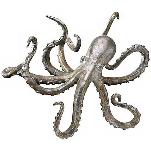 Cast Iron Octopus Decorative Shelf Sculpture