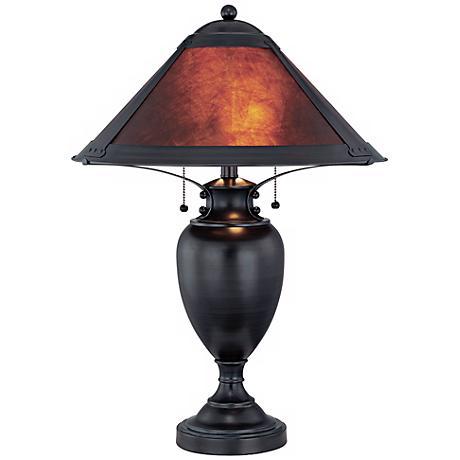 Mischa Dark Bronze with Mica Shade Lite Source Table Lamp