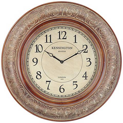 "Cooper Classics Mackenzie 38"" Wide Wall Clock"