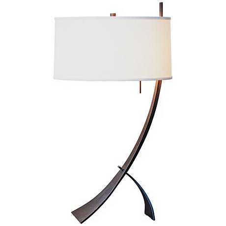 stasis with drum shade hubbardton forge table lamp. Black Bedroom Furniture Sets. Home Design Ideas