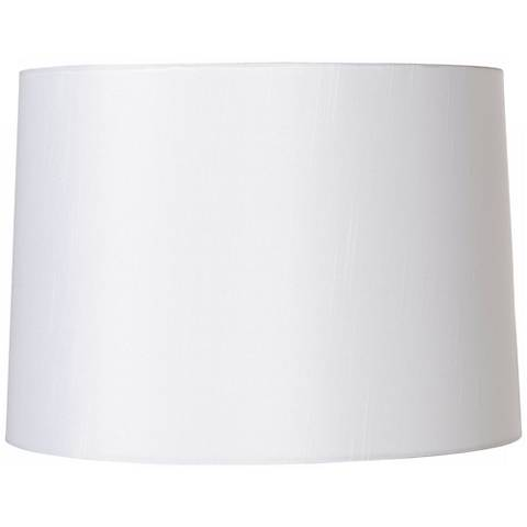 White Fabric Hardback Lamp Shade 13x14x10 (Spider)