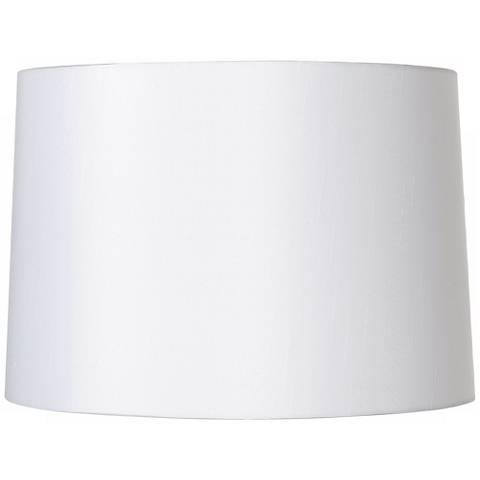 White Fabric Hardback Lamp Shade 15x16x11 Spider