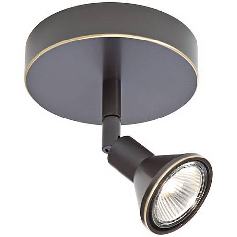 Lichtstar Old Bronze Round Canopy Spotlight Ceiling Fixture