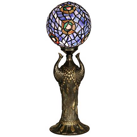 Globe Peacock Replica Dale Tiffany Table Lamp