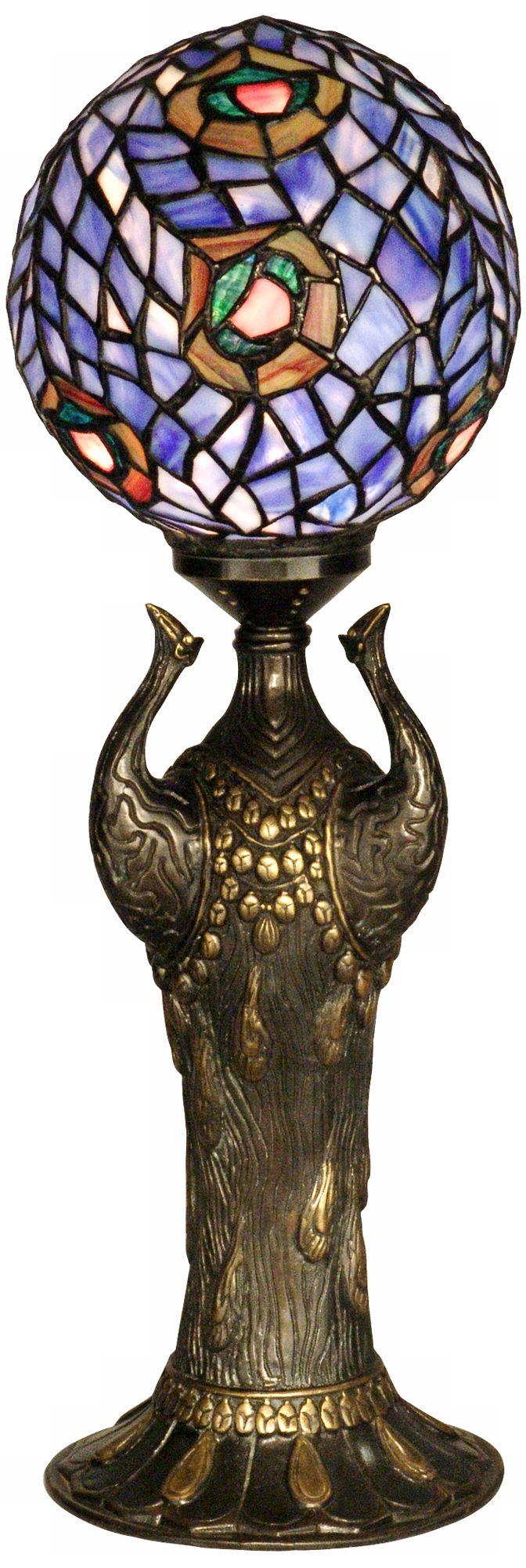 Globe Peacock Replica Dale Tiffany Table Lamp