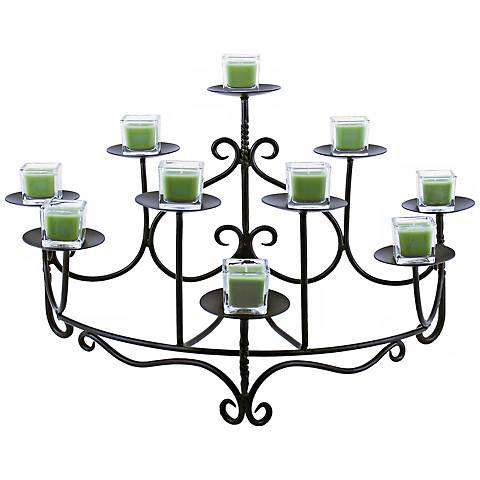 Spandrels Graphite Hearth Candelabra Candle Holder
