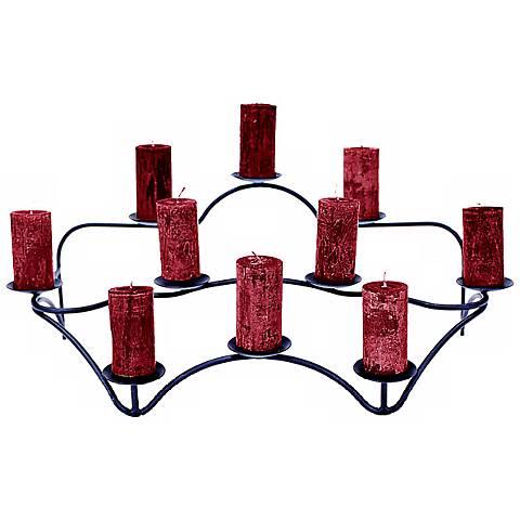 Contours Indoor/Outdoor Black Candelabra Candle Holder